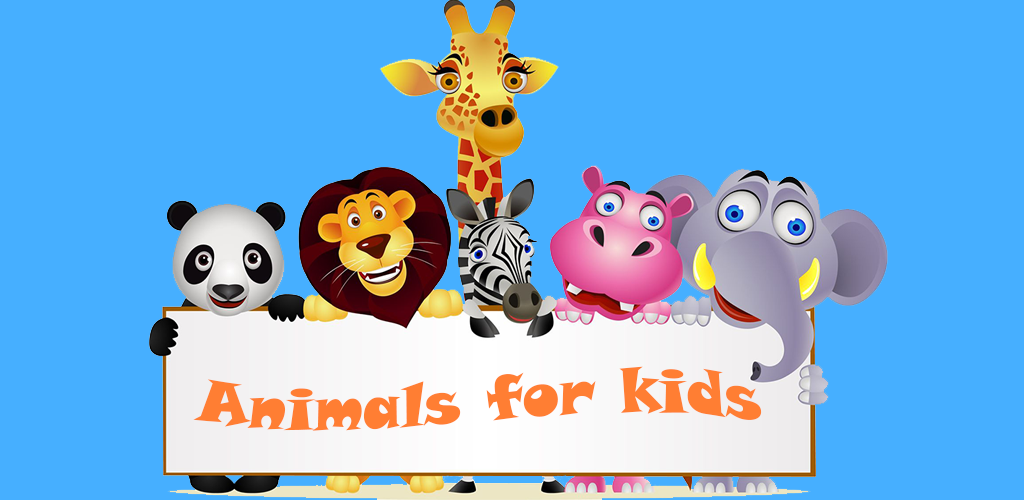 Animals for kids - application logo